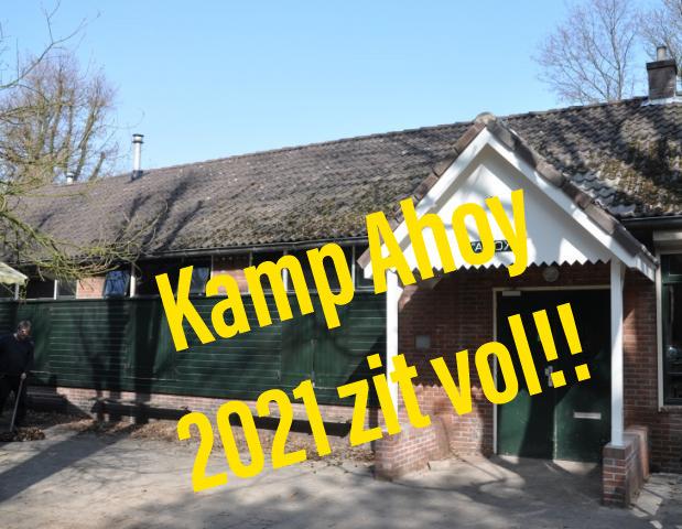 Kamp Ahoy 2021 zit vol